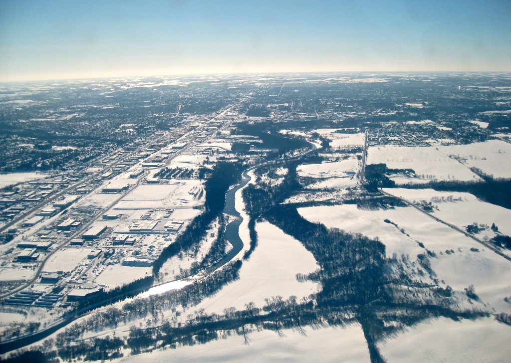 Waterloo Region from the air